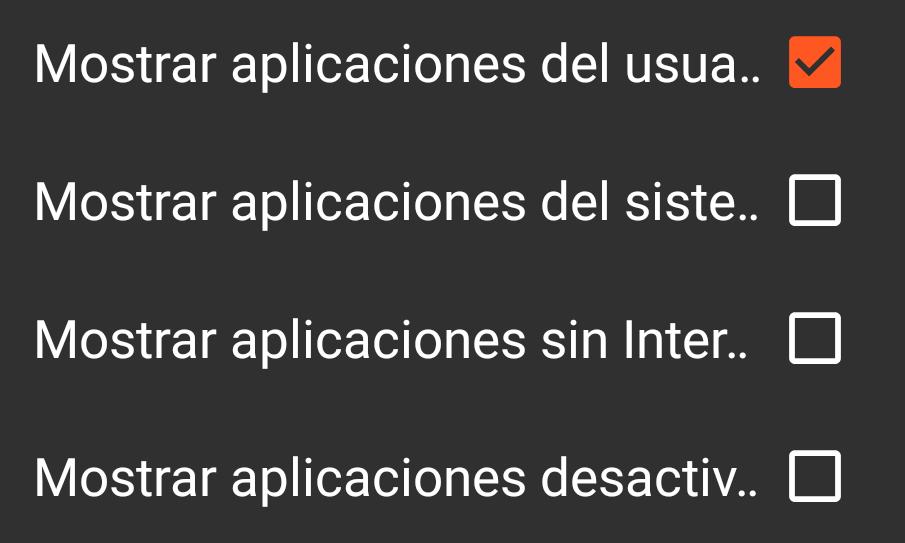 Mostrar apps